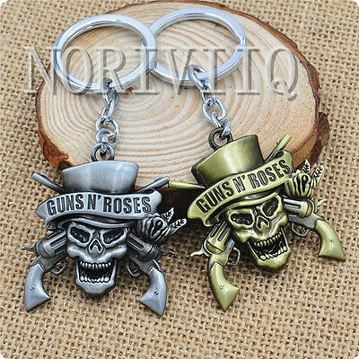 The music band Guns N' Roses G N' R GnR Logo Alloy Metal Keychain Keyring Gifts