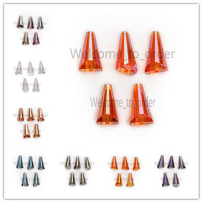 10x20mm Glass Crystal Faceted Pagoda Bottle Cap Teardrop Beads Spacer Crafts Hot
