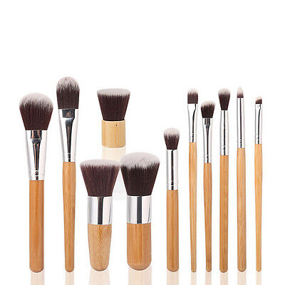 11Pcs Makeup Brushes Set Kit Cosmetic Tool Powder Foundation Eyeshadow Brush