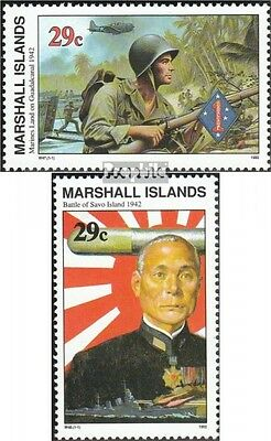 Marshall-Islands 434,435 unmounted mint / never hinged 1992 History of II. world