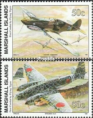 Marshall-Islands 392-393 unmounted mint / never hinged 1991 History of II. world