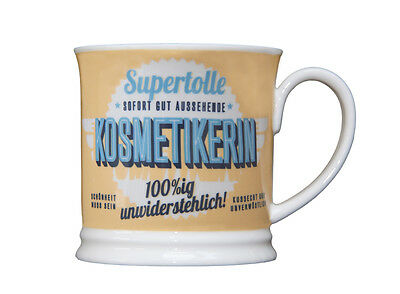 Beauty Becher SUPERTOLLE KOSMETIKERIN Retrobecher Kaffeebecher von GlasXpert