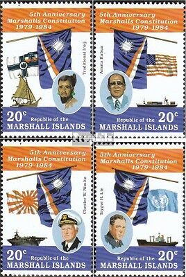 Marshall-Islands 27-30 unmounted mint / never hinged 1984 5 years Constitution