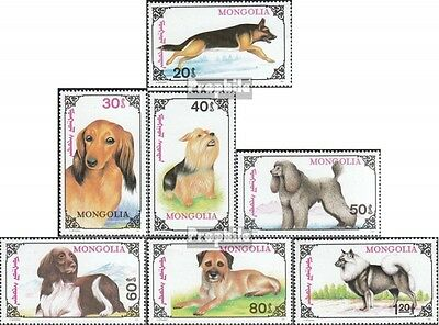 Mongolia 2320-2326 unmounted mint / never hinged 1991 Dogs