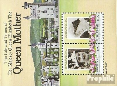 St. Vincent-Union Iceland block1 unmounted mint / never hinged 1985 queen mother