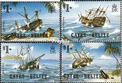 Cayes Of belize 26-29 unmounted mint / never hinged 1985 Shipwrecks
