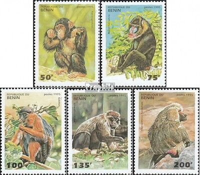 Benin 638-642 unmounted mint / never hinged 1995 Monkeys