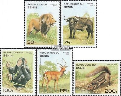 Benin 691-695 unmounted mint / never hinged 1995 Mammals Africa