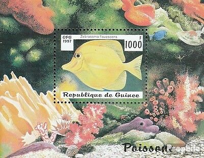 Guinea block510 unmounted mint / never hinged 1997 Fish