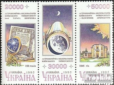 Ukraine 161-163 triple strip unmounted mint / never hinged 1996 Astronomy