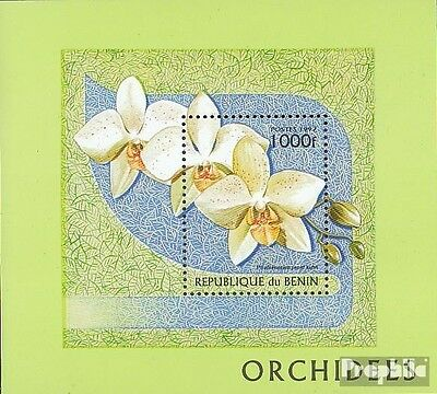 Benin block29 unmounted mint / never hinged 1997 Orchids