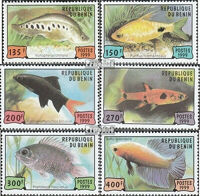 Benin 1163-1168 unmounted mint / never hinged 1999 Aquarium fish