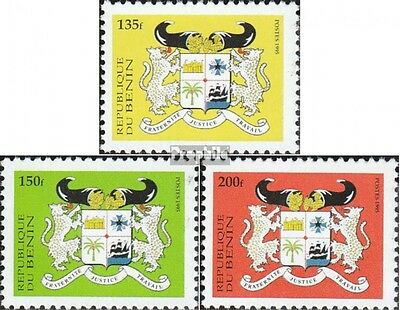 Benin 682II-684II unmounted mint / never hinged 1995 State Emblem