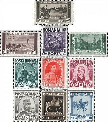 Romania 569-578 unmounted mint / never hinged 1939 King Karl I.