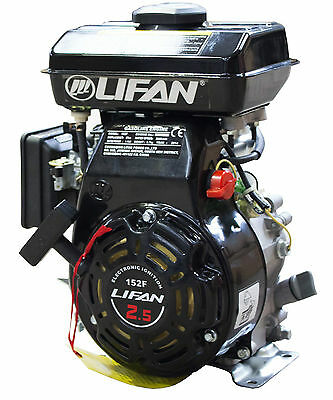 "Lfe152F Lifan 2.5Hp 5/8"" (15.87Mm) Shaft Petrol 4-Stroke Engine Repl Honda G100"