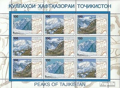 Tajikistan 109-111 Sheetlet unmounted mint / never hinged 1997 Pamirgebirge