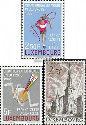 Luxembourg 655-656,659 unmounted mint / never hinged 1962 Cycling, Landscapes