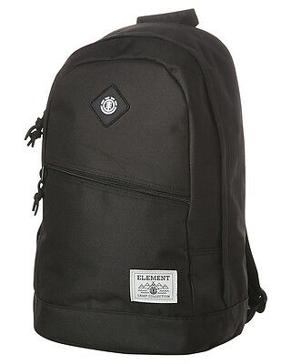 New Element Men's Camden Backpack Pu Luggage Travel Black