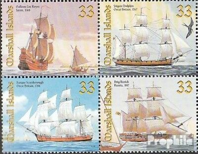 Marshall-Islands 1226-1229 block of four unmounted mint / never hinged 1999 Sail