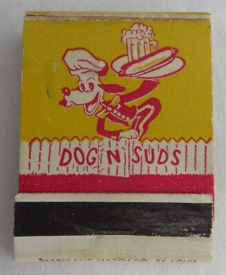 Dogs N' Suds Maryland Match Co. Matchbook Cover    (Inv2435)