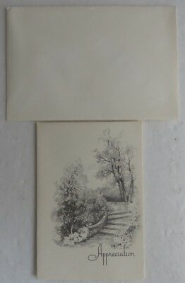 """Vintage """"in Appreciation"""" Card With Envelope - Never Used          (Inv4155)"""