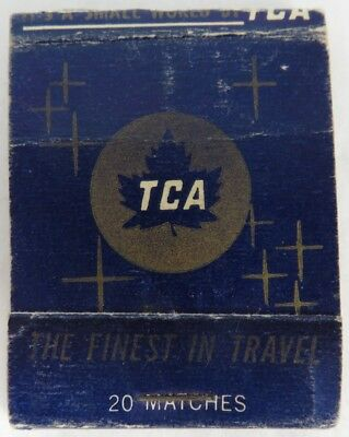 Vintage Trans-Canada Airlines Tca Matchbook Cover                (Inv8635)