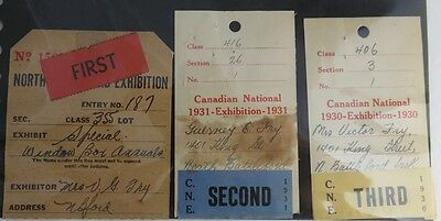 VINTAGE CANADIAN EXHIBITION 1st, 2nd PRIZE WOMEN'S CONTEST BALLOTS     (INV2624)