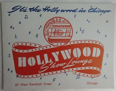 Vintage Hollywood Show Lounge In Chicago Photo Folder     (Inv2375)