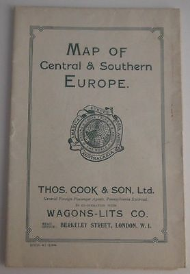 1930 Cook And Son Map Of Central And Southern Europe