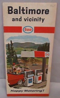 1967 Esso Baltimore And Vicinity Road Map