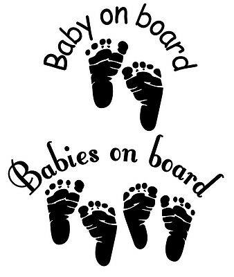 Babies / Baby On Board decal car stickers FREE SHIPPING!!