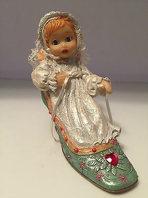 Ashton Drake Tiny Dreamer Collection - Royal Christening - Baby in Shoe Figurine