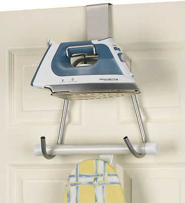 Door or Wall Mount Iron and Board Caddy Ironing Accessory