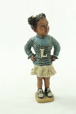 Vintage Resin Black Girl Cheerleader Doll