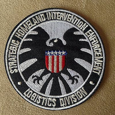 "💥3"" MARVEL COMICS Agents of SHIELD S.H.I.E.L.D Iron-on Logo PATCH! Nick Fury"