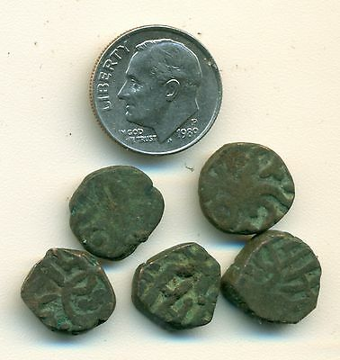 5 UNKNOWN COINS from ANCIENT INDIA (Lot #3)
