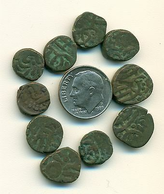 10 UNKNOWN COINS from ANCIENT INDIA (Lot #1)