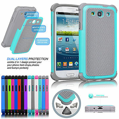 Shockproof Dirt Dust Proof Defender Case Cover For Samsung Galaxy S3 SIII i9300