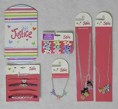 Justice Girls Jewelry Accessory Mixed Lot w/ Friendship Necklace 5 Pieces as Sho