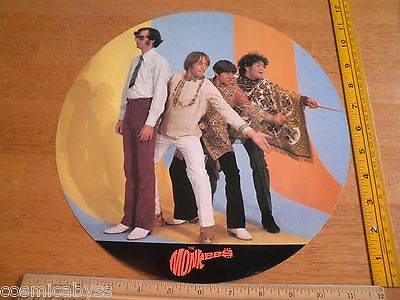 """The Monkees promo 12"""" vinyl record album size double sided poster vintage"""