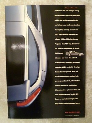 1991 Porsche 928 GTS Coupe Showroom Advertising Sales Poster RARE!! Awesome L@@K