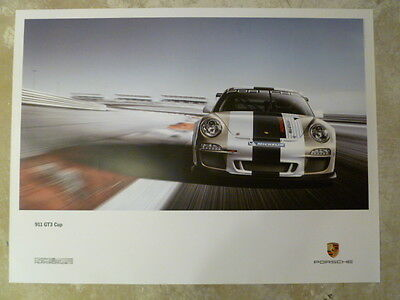 2011 Porsche 911 GT3 Cup Showroom Advertising Sales Poster RARE!! Awesome L@@K