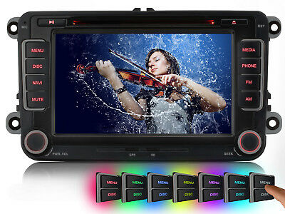 Autoradio Doppel 2 Din DVD GPS Navigation Navi Für VW Golf Polo Sharan EOS Caddy
