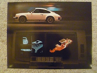 1987 Porsche 911 Coupe Showroom Advertising Sales Poster RARE!! Awesome L@@K