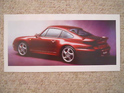 1996 Porsche 911 Turbo Coupe Showroom Advertising Poster RARE!! Awesome L@@K