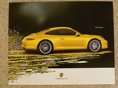 2012 Porsche 911 Carrera Coupe Showroom Advertising Poster RARE!! Awesome L@@K