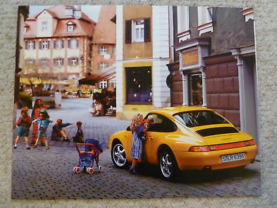 1995 Porsche 911 Carrera 4 Coupe Showroom Advertising Sales Poster RARE! Awesome