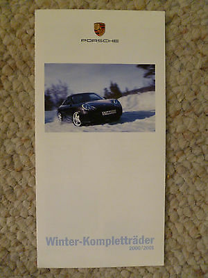 2000 Porsche Winter Wheels Showroom Sales Brochure / Folder German Awesome L@@K