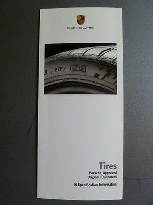 2006 Porsche Tires Showroom Sales Folder / Brochure RARE!! Awesome L@@K