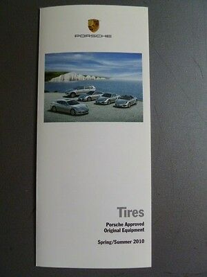 2010 Porsche Tires Showroom Sales Folder / Brochure Spring RARE!! Awesome L@@K